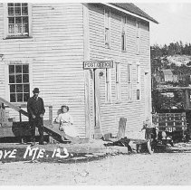 Image of Post office at Long Cove, Maine, circa 1915