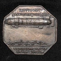 Image of Souvenir medal from International Airship Expo, Frankfurt, Germany, 1909
