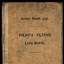 Image of Cover of 1917 RFC pilot's logbook for Lt. John Hood