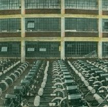 Image of Postcard showing 1,000-car daily output of Ford Detroit plant