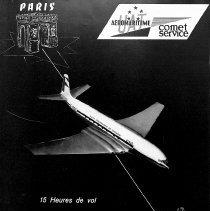 Image of Reverse of Graf Zeppelin ad, advertising Aeromaritime/De Havilland Comet