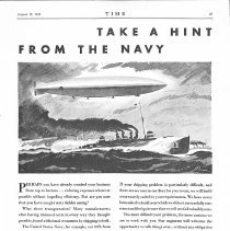 Image of 08/17/1930 ad for General American Tank Car Corp., w/Navy dirigible image