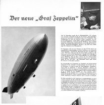 Image of Magazine ad for the Graf Zeppelin
