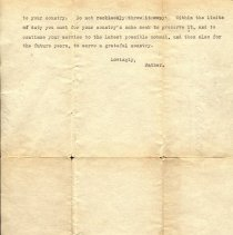Image of 03/30/1918 letter to Percival Gates from his father, page 2 of 2