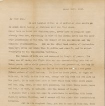 Image of 03/30/1918 letter to Percival Gates from his father, page 1 of 2