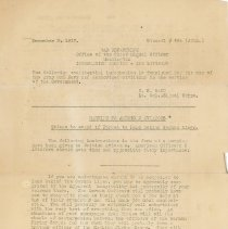Image of US Army aviators bulletin, 1917: If forced to land behind German lines. 1