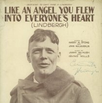 "Image of Sheet music: ""Like an Angel You Flew Into Everyone's Heart (Lindbergh)"""