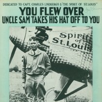 """Image of Sheet music: """"You Flew Over: Uncle Sam Takes his Hat Off to You"""", 1910"""