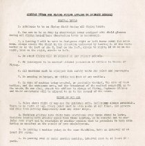 """Image of """"General Rules for Flying Fields Applying to Primary Schools"""". Set of 42 rules, including general rules; rules of the air; notes for pilots climbing out of a restricted field; and glides and spirals. - Percival T. Gates World War I Aviation Collection"""