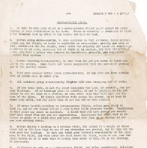 """Image of """"General Rules for Flying Fields Applying to Primary Schools"""". Set of 42 rules, including general rules, rules of the air, notes for pilotsclimbing out of a restricted field, and glides and spirals. - Percival T. Gates World War I Aviation Collection"""