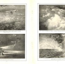 Image of Sky Fighters of France painting exhibit catalog: pages 10-11