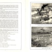 Image of Sky Fighters of France painting exhibit catalog: pages 16-17
