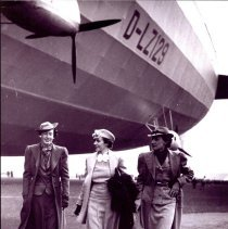 Image of Women disembarking from the Hindenburg