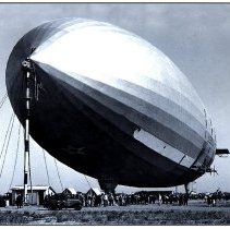 Image of USS Akron ZRS-4 moored at Naval Air Station Sunnyvale, CA, circa 1932