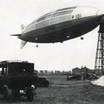 Image of British dirigible R101, moored at Cardington, England, circa 1929