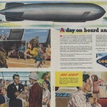 Image of A Day On Board an Airship; 1945 Goodyear Ad, Collier's