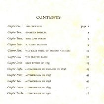 Image of Table of contents: The Early History of Motoring, by Claude Goodman Johnson
