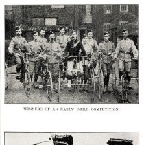 Image of Cyclist regiment: drill competition winners, machine gun-armed bicycles