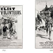 Image of Cyclist regiment recruiting posters, 1891 and 1912