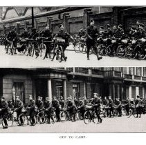 """Image of London Cyclist's Battalion: """"Off to Camp"""""""
