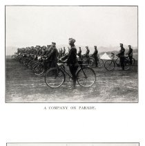 Image of London Cyclist's Battalion: a company on parade; the ambulance