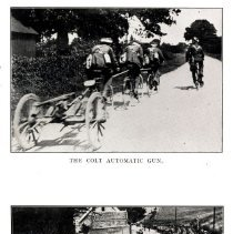 Image of London Cyclist's Battalion: the Colt automatic gun; the band