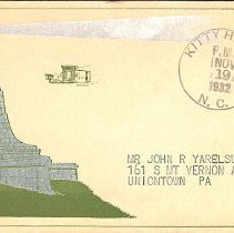 Image of Philatelic Cover: Kitty Hawk, 1932