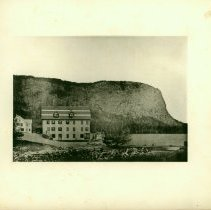 Image of Mount Kineo from Moosehead Lake, 1885