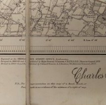 Image of Right-hand corner of Charles S. Rolls' balloon ordnance map of Thames area