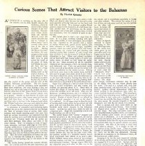"Image of Harriet Quimby article, 1910: ""Curious Scenes...Attract Visitors...Bahamas"""