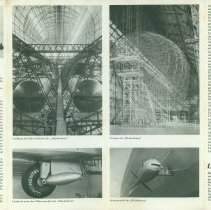 Image of 1936 advertising brochure for the Graf Zeppelin and Hindenburg, in German