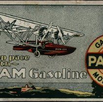 "Image of ""Keep Pace with Pan-Am Gasoline"" ink blotter"