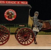 "Image of H.P. Hood & Sons ""Hood's Grade A Milk"" ink blotter"