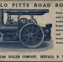 Image of Buffalo Steam Roller Co. ink blotter - Buffalo Pitts Road Rollers