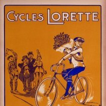 Image of Cycles Lorette/Vélo Lorette bicycle advertising poster