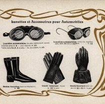 Image of Guide Pratique du Chauffeur, 1902: motoring goggles and other accessories