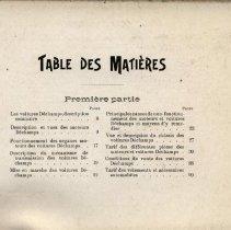 Image of Guide Pratique du Chauffeur, 1902: table of contents, part 1