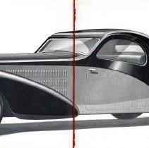 Image of 1936 Bugatti Type 57 catalog - centerfold