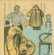 "Image of 01/18/1902 L'Assiette au Buerre cartoon: ""...this horrible fur coat..."""