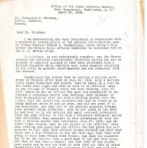 Image of Letter regarding investigation of Edmund Chamberlain (1 of 5)
