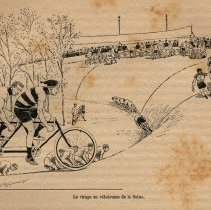 Image of Taking the curve at the velodrome on the Seine