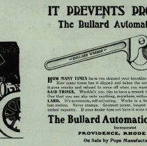 Image of Anti-profanity Bullard wrench ad, The Automobile magazine, 01/11/1906