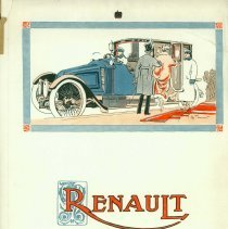 Image of Renault town car/limousine advertisement, 1920s