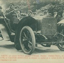 """Image of """"Radia"""" racing automobile real photo postcard, circa 1908 - Lang Collection"""