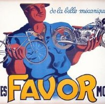 "Image of Advertising poster, ""Favor"" bicycle and motorcycle company"