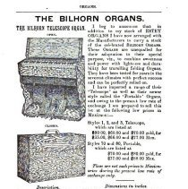 "Image of Bilhorn ad from missionary magazine ""The Chinese Recorder"", Vol. 37, 1906"