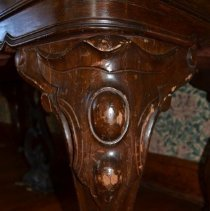 Image of Close-up of right front piano leg