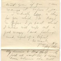 Image of Letter from O. Henry to Gilman Hall compiled from two scans, verso