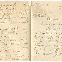 Image of Letter from O. Henry to Gilman Hall compiled from two scans, recto