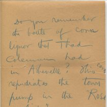 Image of Note from O. Henry to Gilman Hall, recto